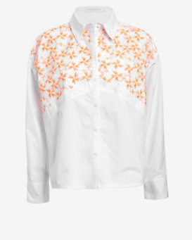 Tanya Taylor Neon Embroidered Shirt