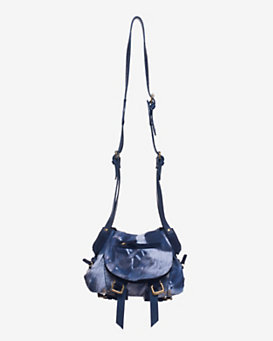 Jerome Dreyfuss Twee Tie-Dye Crossbody Bag: Blue