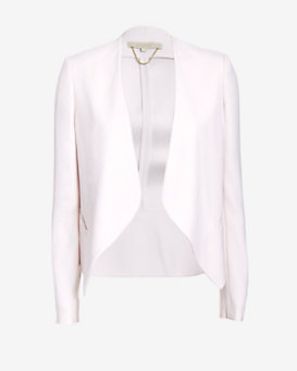 Vanessa Bruno Open Placket Blazer: Light Pink