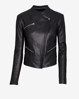 Veda James Leather Jacket: Black