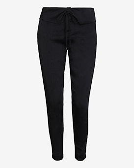 Vince Fold Over Waistband Pant: Black