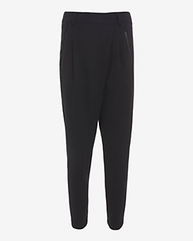 Vince Asymmetric Trouser: Black
