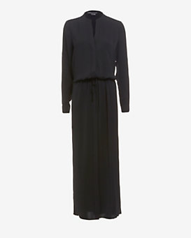 Vince Shirt Maxi Dress: Black