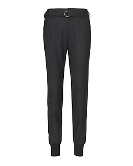 Vince Belted Trouser: Charcoal