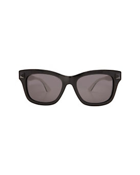 Valentino Wayfarer Sunglasses: Black/White