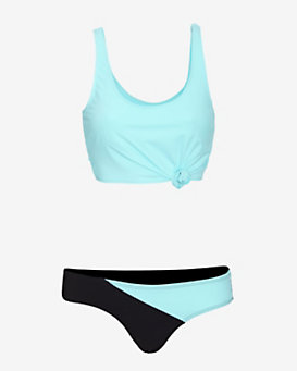 Flagpole Swim Sport Bra Top/Asymmetric Bottom Bikini
