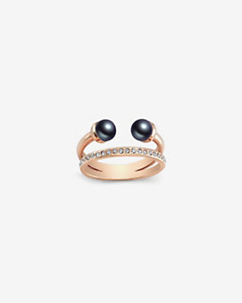 Vita Fede Double Black Pearl Banded Ring