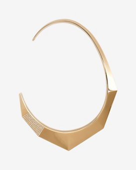 Vita Fede Coda Floating Collar Necklace: Rosegold