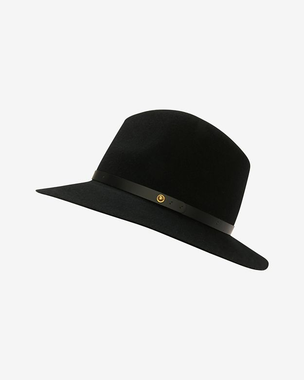 rag & bone Floppy Brim Fedora: Black