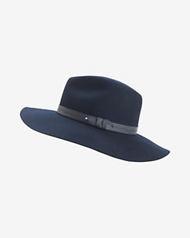 rag & bone Wide Brim Fedora: Navy