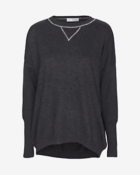 Lucy Nagle EXCLUSIVE Crew Neck Sweater: Charcoal