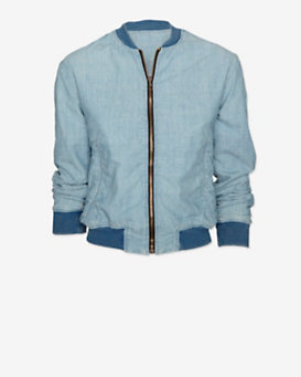 rag & bone/JEAN Chambray Bomber Jacket