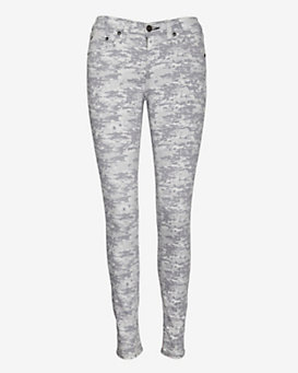 rag & bone/JEAN Digital Print Camo Skinny: Grey