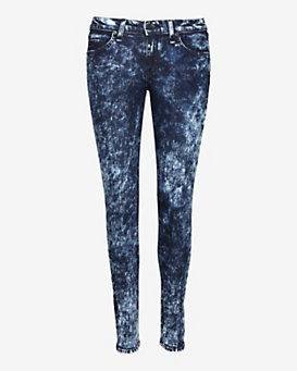rag & bone/JEAN Acid Wash Skinny: Dark Blue