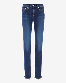 rag & bone/JEAN Unfinished Edge La Paz Straight Leg