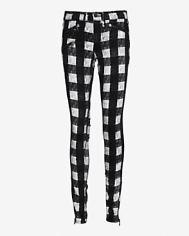 rag & bone/JEAN Plaid Skinny
