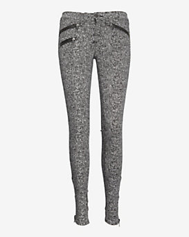 rag & bone/JEAN Printed Zipper Skinny