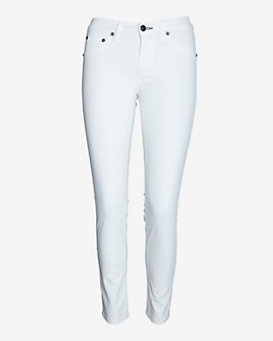 rag & bone/JEAN EXCLUSIVE Coated Ankle Skinny: White