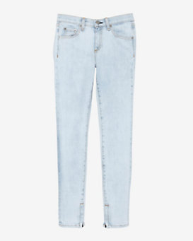 rag & bone/JEAN EXCLUSIVE Bleached Ankle Zip Skinny
