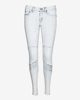 rag & bone/JEAN EXCLUSIVE Moto Panel Bleached Zipper Skinny