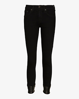 rag & bone/JEAN Leather Cuff Capri Skinny