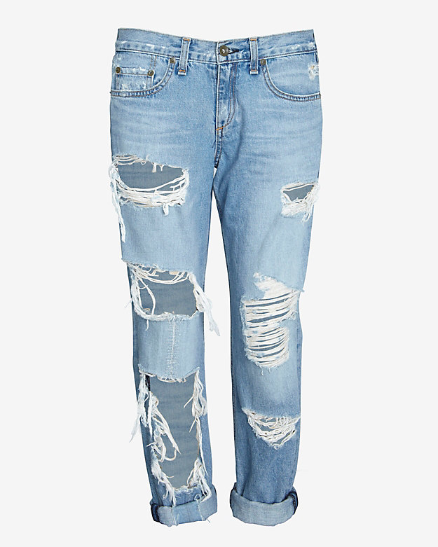 rag & bone/JEAN EXCLUSIVE Shredded Boyfriend Jean
