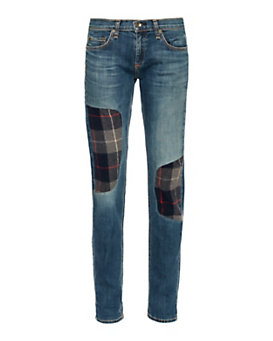 rag & bone/JEAN Dre Plaid Patch Workshop Champs