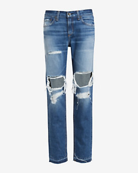 rag & bone/JEAN EXCLUSIVE Lincoln Shredded Boyfriend