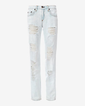 rag & bone/JEAN Bleach Out Shredded Boyfriend
