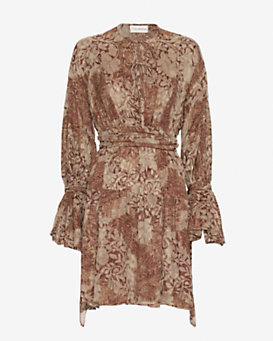 Faith Connexion Silk Printed Wrap Dress