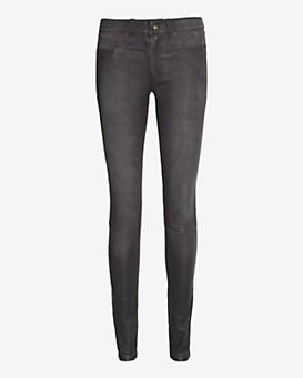rag & bone/JEAN Leather Skinny: Washed Grey