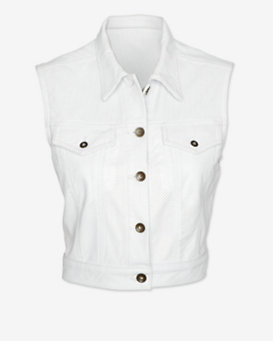 rag & bone/JEAN EXCLUSIVE Perforated Leather Vest: White