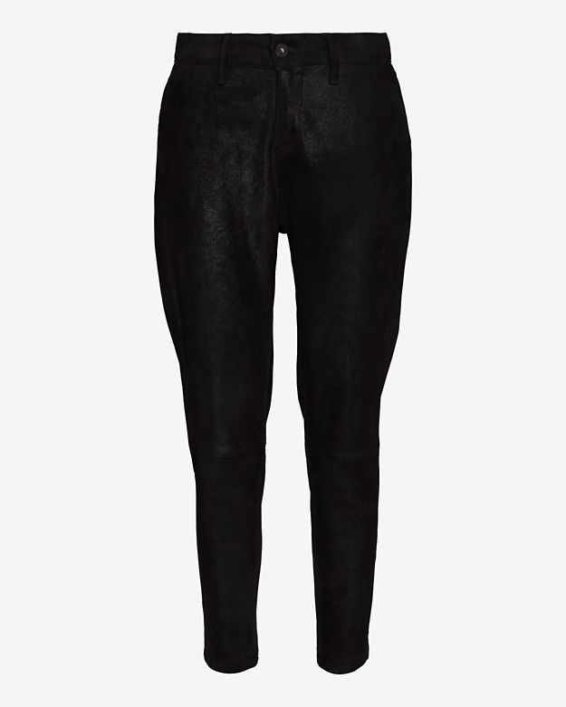 rag & bone/JEAN Suede Dash Trouser: Black