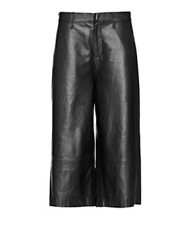 rag & bone/JEAN Gaucho Leather Short: Black