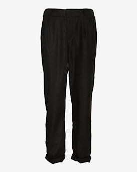 rag & bone/JEAN Coated Cotton Aberdeen Trouser: Black