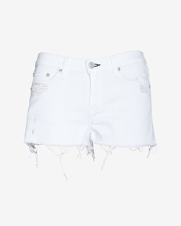 rag & bone/JEAN EXCLUSIVE Destroyed Cut Offs: White