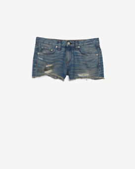 rag & bone/JEAN EXCLUSIVE Destroyed Cut Offs: Denim