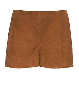 rag & bone/JEAN Georgie Suede Shorts: Brown