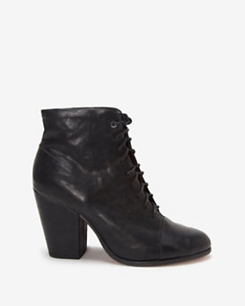 rag & bone Miles Lace Up Boot: Black