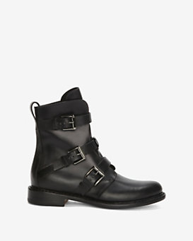 rag & bone Hudson Buckled Moto Boot: Black