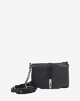 rag & bone Mini Enfield Leather Shoulder Bag: Black