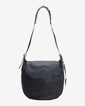 rag & bone Bradbury Large Leather Flap Hobo: Black