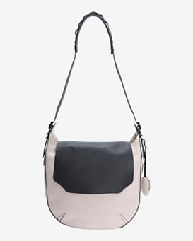 rag & bone Bradbury Large Leather Flap Hobo: Blush