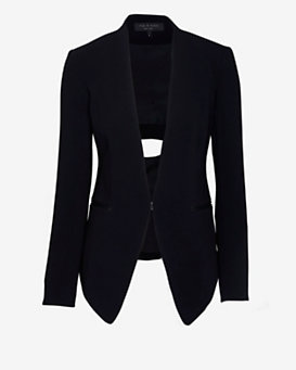 rag & bone Teresa Cut Out Back Blazer: Black