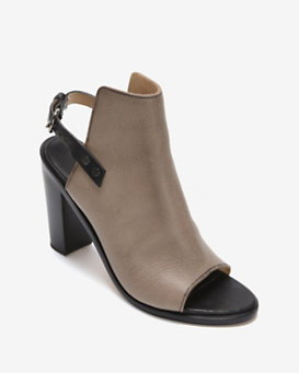 rag & bone Wyatt Leather Slingback Peep-Toe