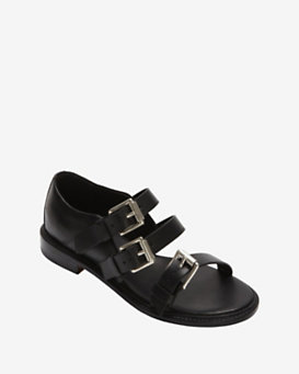 rag & bone Hudson Buckled Sandal: Black