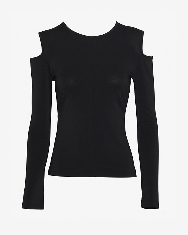 rag & bone Michelle Cut Out Shoulder Top: Black