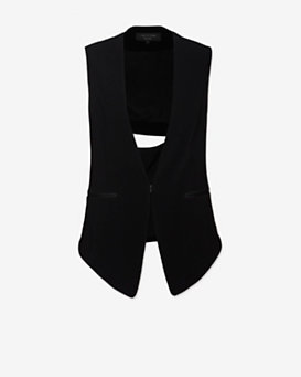 rag & bone EXCLUSIVE Teresa Cut Out Vest: Black