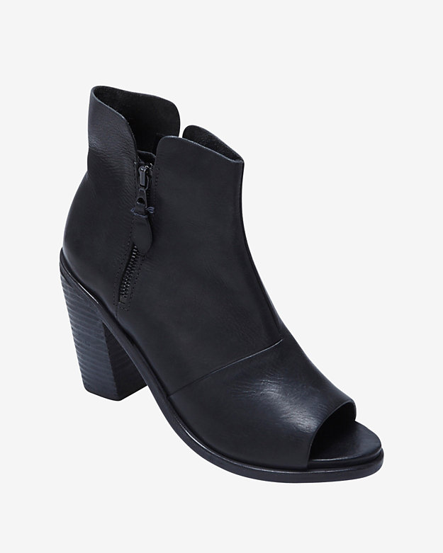 rag & bone Noelle Open Toe Bootie: Black