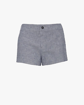 rag & bone Nesi Leather Side Panel Shorts